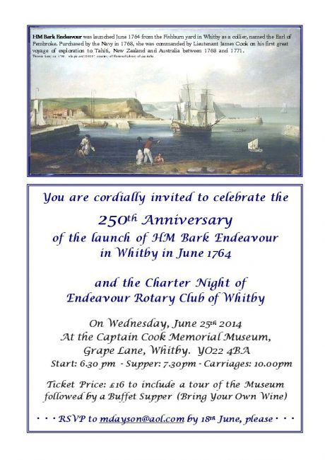 Charter Night Invitation 2014