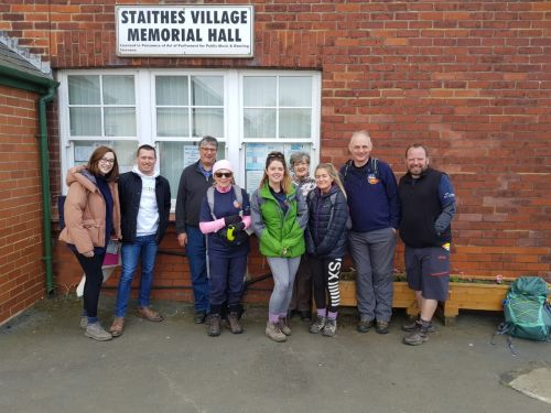 Brains Trust walkers at Staithes Village Hall