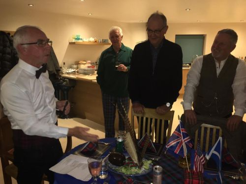 burns night addressing the haggis
